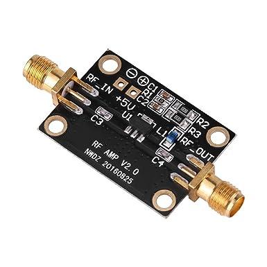 Amplificador de 21 dB M/ódulo amplificador de bajo ruido Alta linealidad Alta ganancia de banda ancha 0.01-4GHz para radio HAM RTL SDR LNA