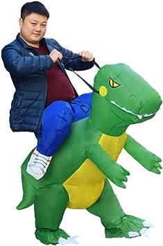 8HAOWENJU Dinosa inflable, Dinosaurios desmontables, Disfraz de ...