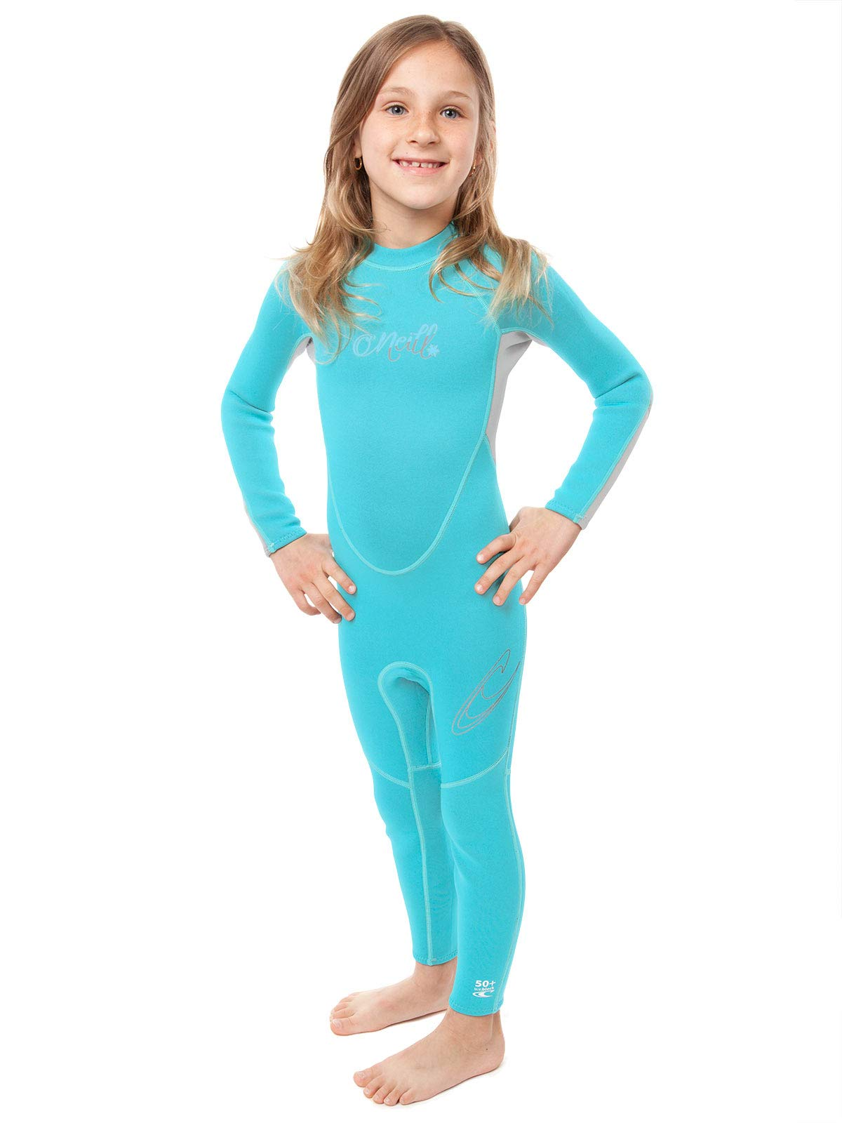 O'Neill Reactor Toddler Full Wetsuit 1 Light Aqua/Cool Grey (4629G) by O'Neill Wetsuits
