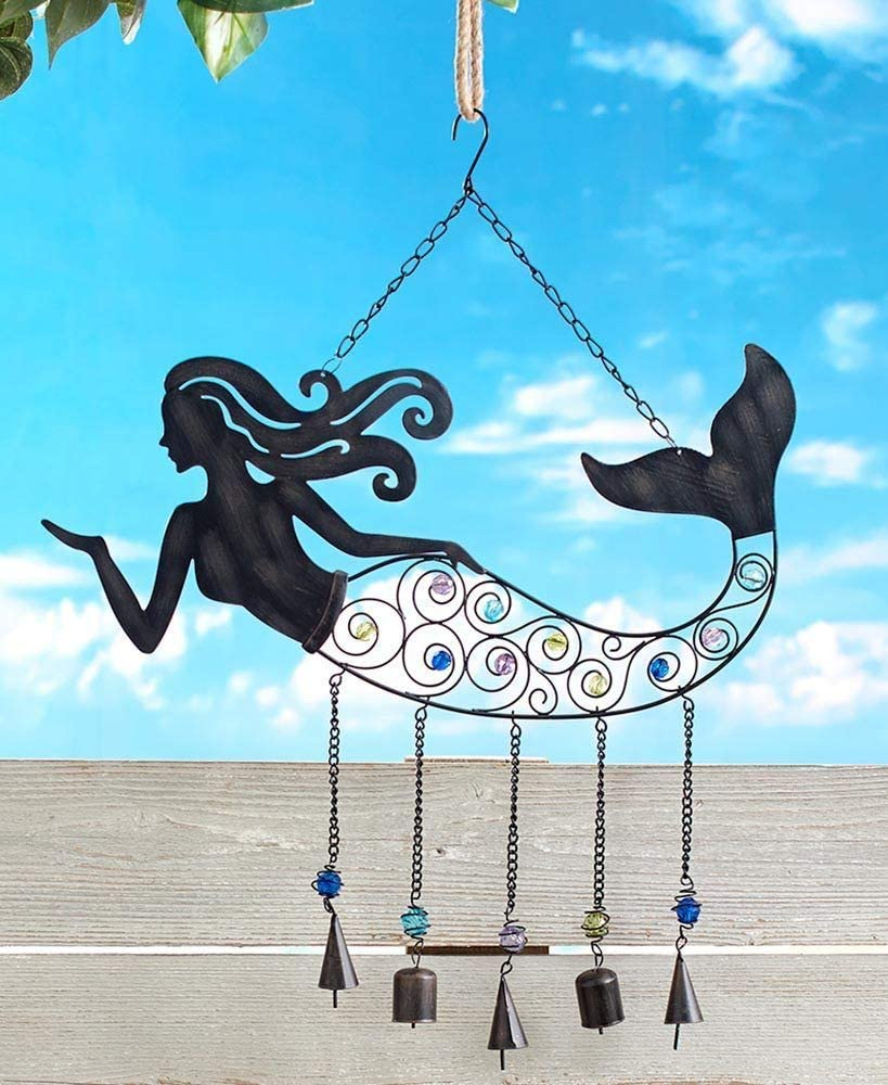 SkyMall Metal Indoor/Outdoor 3 in 1 Magical Mermaid Wind Chime