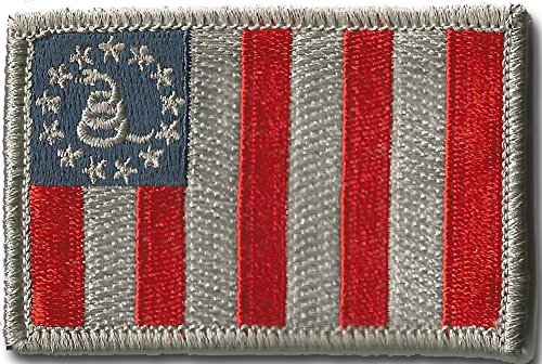 Sons Of Liberty/Gadsden Tactical Patch - Subdued Silver/Blue