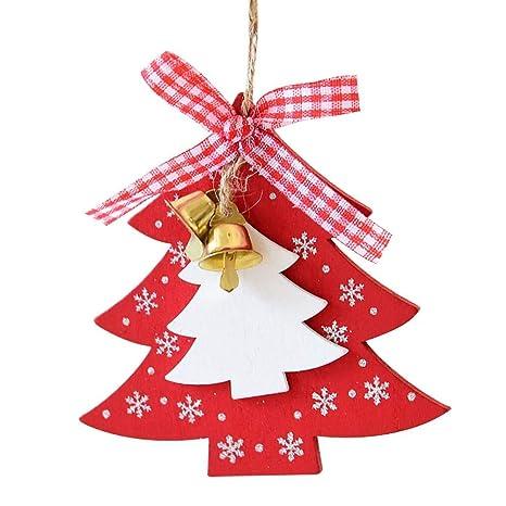bd3a6fb6c6d Decoraciones para árboles de Navidad Adornos navideños de madera Forma de  amor para árboles Colgante colgante