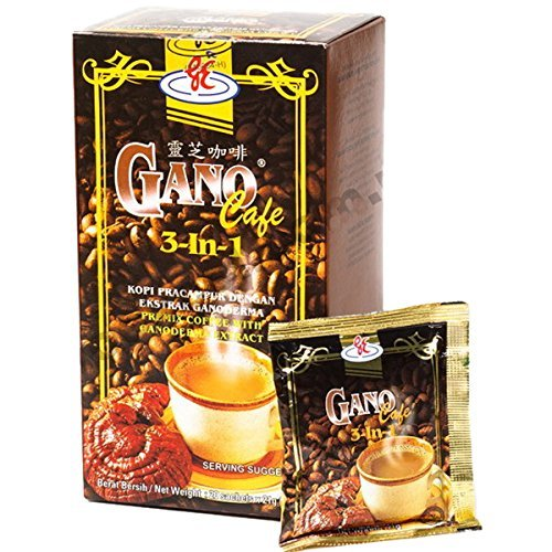 10 Boxes - Gano Cafe 3-in-1 By Gano Excel USA Inc. - 1 Box of 20 Sachets
