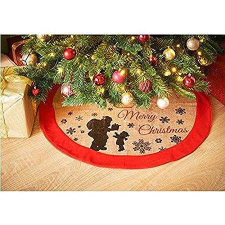 aytai 48 inches plaid christmas tree skirt red black buffalo imatited linen trees skirt christmas tree decorations