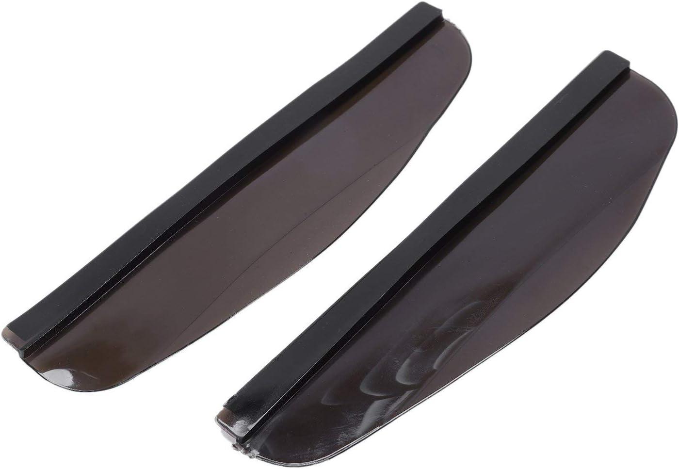 Bestlymood Universal Flexible PVC Car Rear-view Mirror Rain Shade Rainproof Blades Car Back Mirror Eyebrow Rain Cover Black