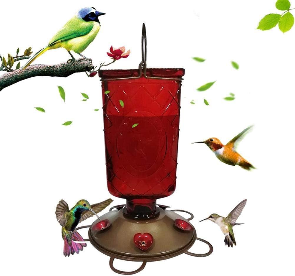 Delaspe Comedero para Pájaros Al Aire Libre Jardín Parque para Pájaros Bebedero Portátil Colibrí Dispensador de Alimentos Comedero Bebedero Comedero para Pájaros Al Aire Libre Comedero: Amazon.es: Jardín