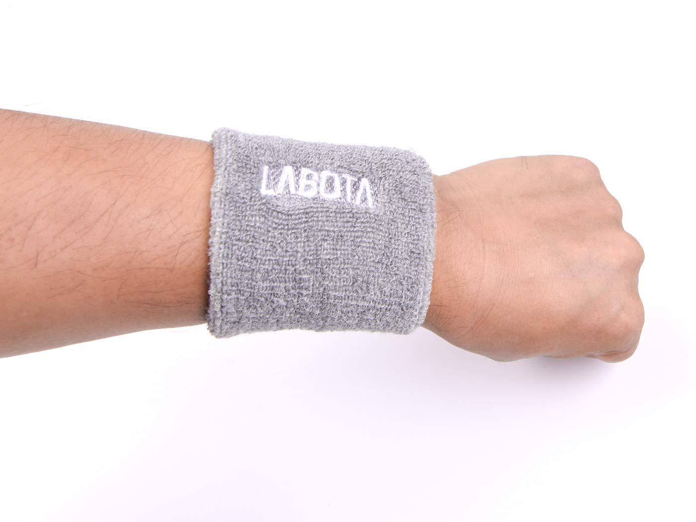 8 cm//3.14 Zoll Laufen Athletic Sports-8 LABOTA 8 Schwei/ßb/änder Wristbands Sportarmb/änder Baumwolle Elastische Saugf/ähige f/ür Fu/ßball Basketball