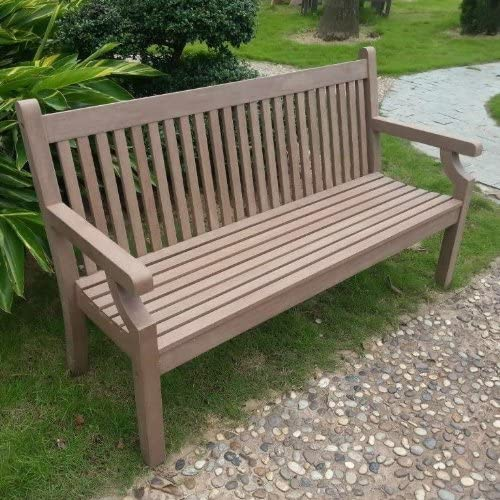 Rogers Recycled Plastic Garden Bench 5ft Furniture Dark Brown Rawgarden Uk Amazon Co Uk Garden Outdoors