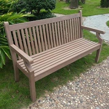Fantastic Rogers Recycled Plastic Garden Bench 5Ft Furniture Dark Brown Rawgarden Uk Ibusinesslaw Wood Chair Design Ideas Ibusinesslaworg