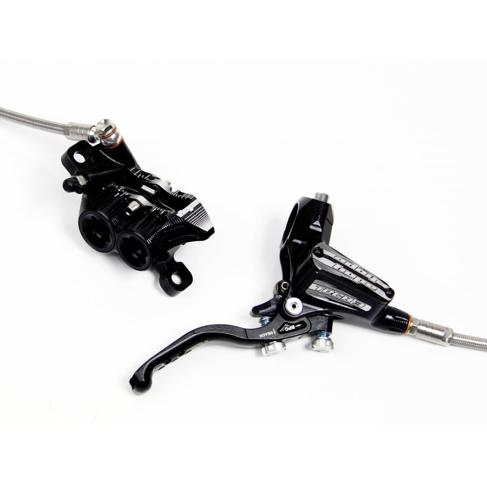 Front with Braided Hose Brake Brand New Hope Tech 3 V4 Silver Left