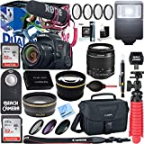Canon EOS Rebel T7i Digital SLR Camera Video Creator Kit + 18-55mm Zoom Lens Accessory Bundle (18-55mm Lens Video Creator Kit)