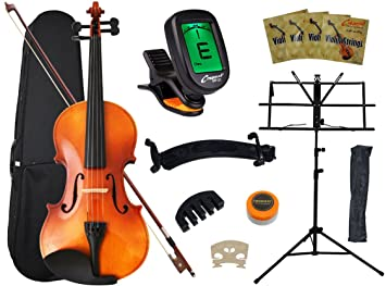 Amazon.com: Crescent 4/4 Full Size Student Violin Starter Kit(Bow ...