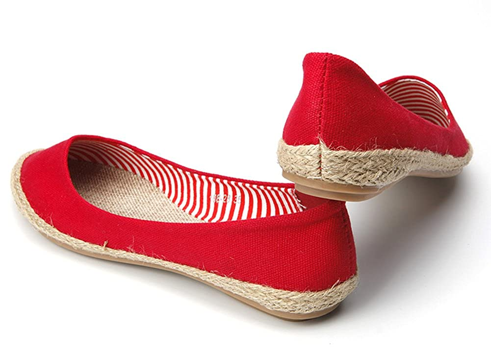 Aisun Womens Classic Ethnic Style Woven Slip On Flats Shoes