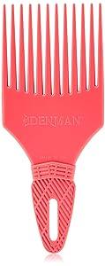 Denman Detangling Hair Brush D17 – Curl Tamer Comb with Long Teeth for Separating, Sculpting & Volumizing Wet Curls – Pink