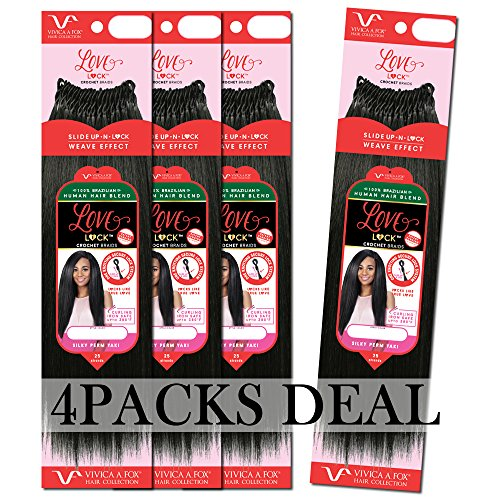 [4PACKS DEAL] VIVICA A FOX HUMAN HAIR BLENDED LOVELOCK CROCHET BRAID 14