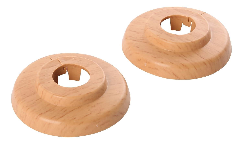 Klapprosette | 15 mm oder 1/4 Zoll | Außendurchmesser 49 mm | 4er-Set | Rosette | Weiß Sanitop-Wingenroth 19216 3