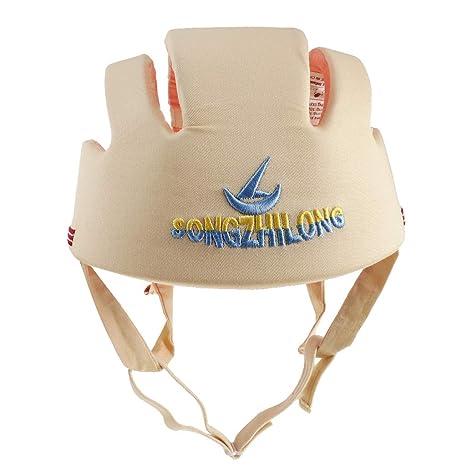 IPOTCH Casco De Seguridad Para Niños Pequeños Juguetes Blandos de Entrenamiento Decor - Beige, como