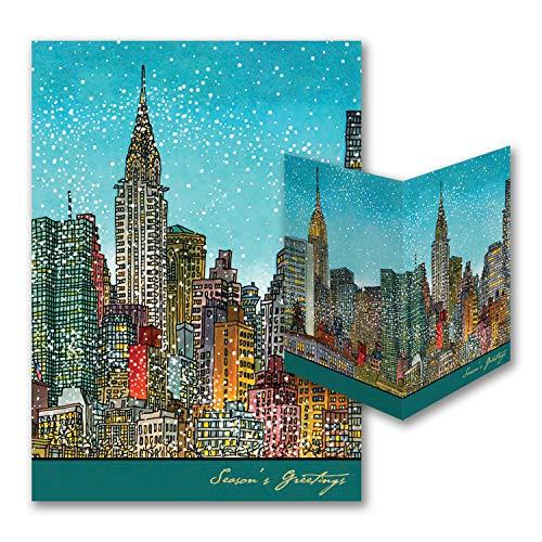 775pk Manhattan Cityscape - American Artist - Roxie Munro-American Artists by Carlson Craft (Image #1)