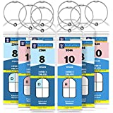 GreatShield Cruise Luggage Tag Holder (8 Pack) Zip Seal & Steel Loops, Water Resistance PVC Pouch for Royal Caribbean and Celebrity Cruise Ship
