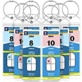GreatShield Luggage Tags, Weatherproof Zip Seal & Steel Loops for Royal Caribbean and Celebrity Cruise (8 Pack)