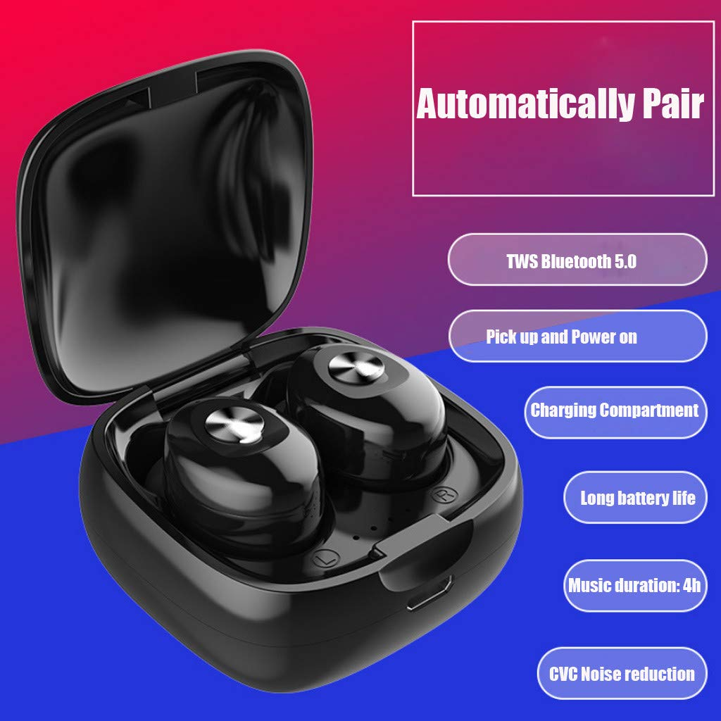 Wireless Earbuds with 160H Playtime Touch Control,Premium Stereo Sound in-Ear Bluetooth Headphones, IPX7 Waterproof Bluetooth 5.0 Headphones (Binaural + Charging Stand)