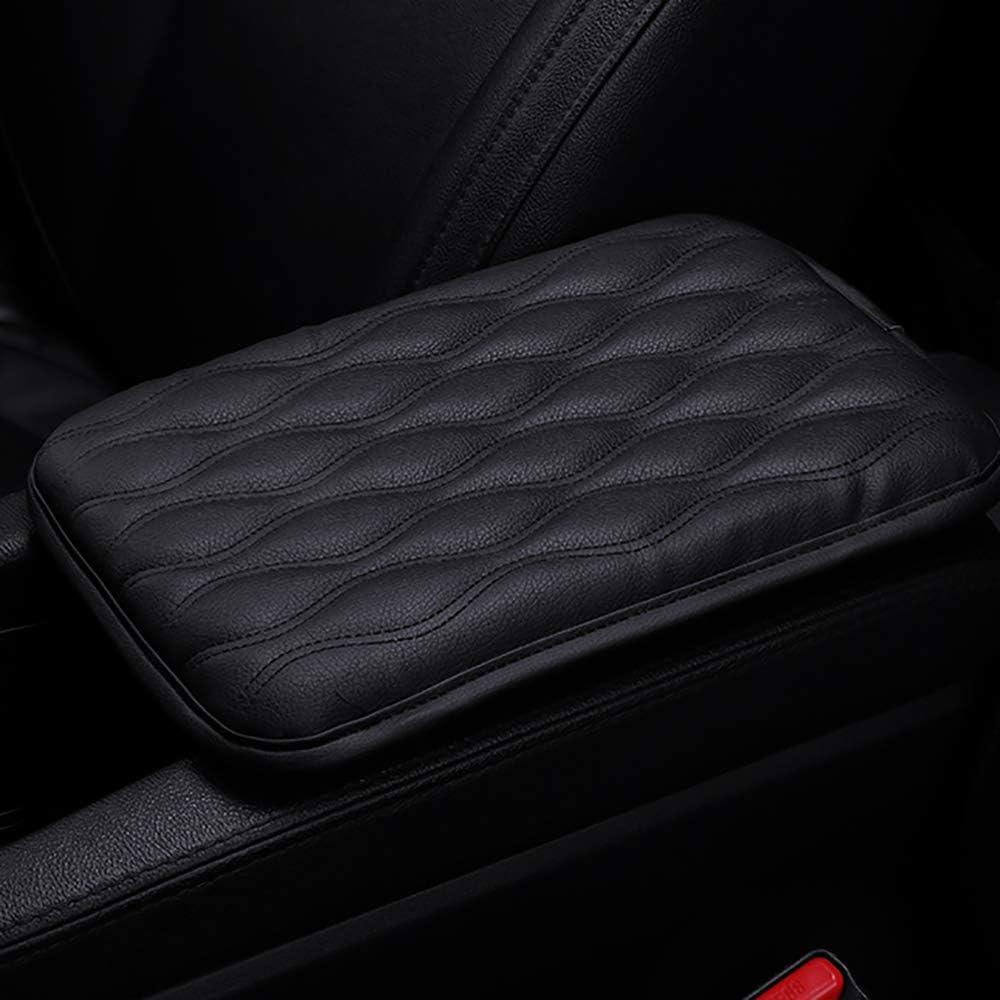 AAGIILEEYO Car Armrest Cover,PU Leather Arm Raised Pad,Center ...