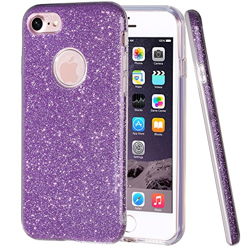 Hanlesi iPhone 7 Case, Shiny Gradient Bling Series Cover Protective Case for Apple 7 4.7 inch