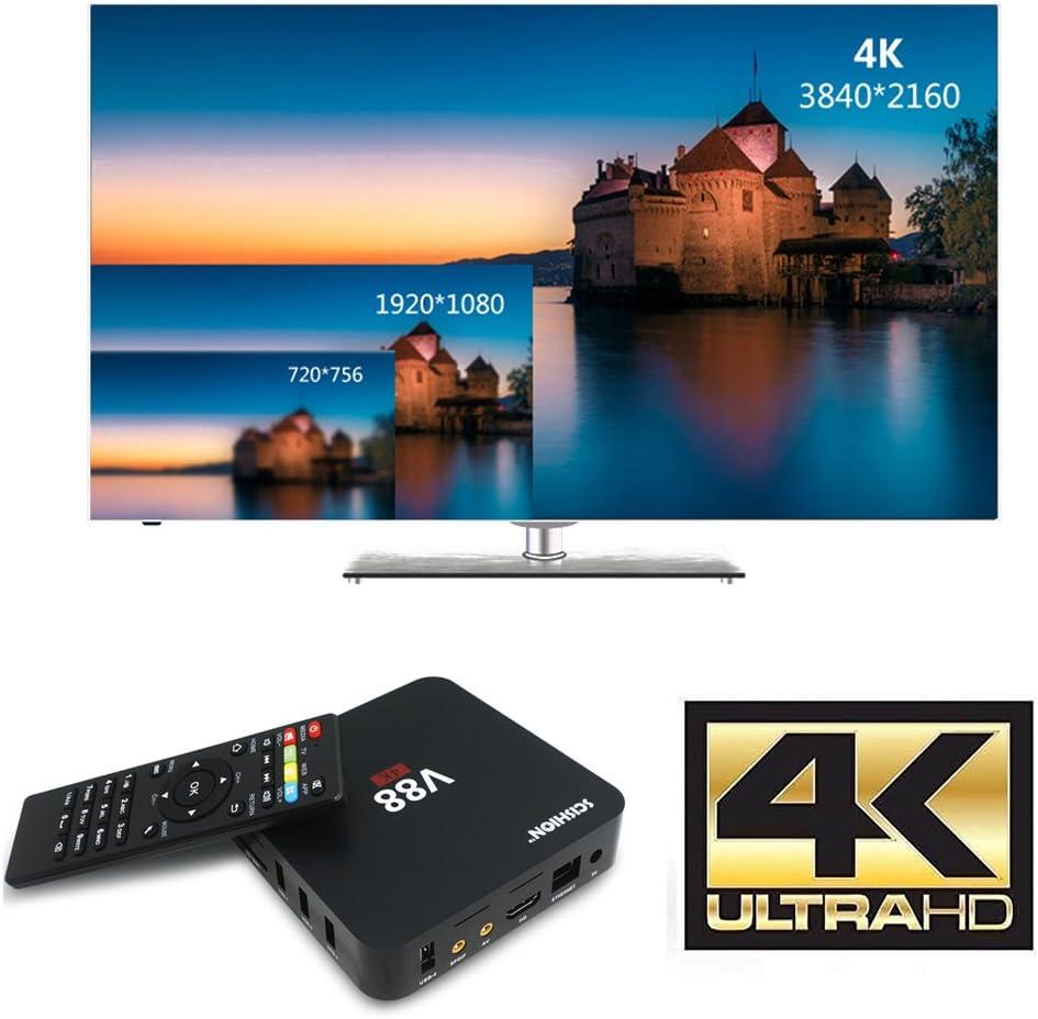 Android tv box Rockchip 3229 Quad-Core(1.5GHZ) Android 6.0 1G/8G 4K H.265 64BIT Preinstalado DLNA Miracast Wifi LAN Google Smart TV BOX: Amazon.es: Electrónica