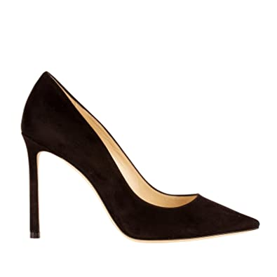 60a4c4b9e7cf0b Jimmy Choo Damen ROMY100SUEBLACK Schwarz Wildleder Pumps  Amazon.de ...