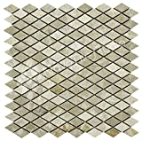 Box 10 Tiles Diamond Shape Natural Stone Mosaic Tile 12''x12'' FIUGGI-ST023 (10)