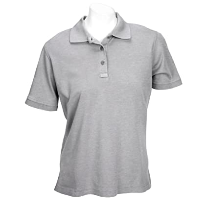 9f5bf47b97b9ee 5.11 Women's Tactical Polo Short Sleeve Tactical Shirt, Style 61164,  Heather Grey, ...