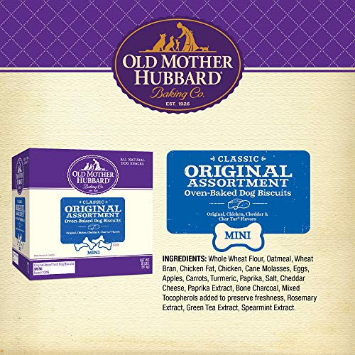 Old Mother Hubbard Classic Crunchy Natural Dog Treats, Original Assortment Mini Biscuits, 20-Pound Box