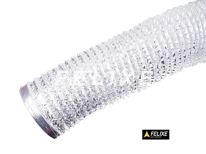 Felixe Aluminum Flexible Chimney Pipe (6-inch/6ft, Silver)
