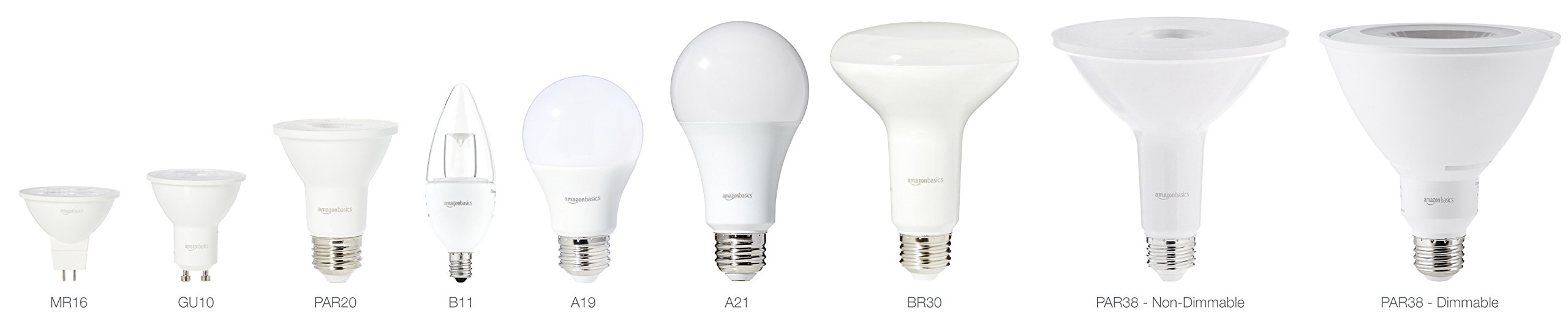 AmazonBasics 60 Watt 15,000 Hours Dimmable 800 Lumens LED Light Bulb - Pack of 16, Daylight by AmazonBasics (Image #3)