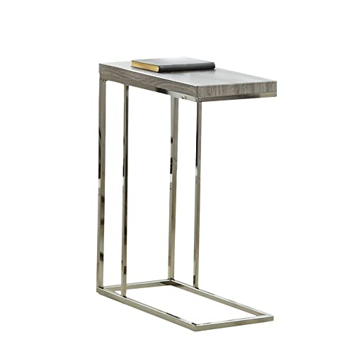 Steve Silver Company Lucia Chairside End Table, 10 x 18 x 25 , Grey