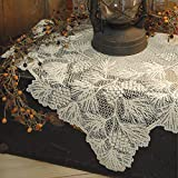 Heritage Lace Woodland 36-Inch by 36-Inch Table Topper , Ecru