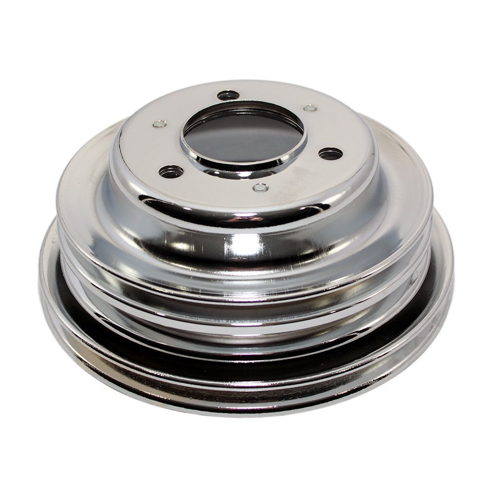 Assault Racing Products A9724PBK Big Block Chevy Black Triple Groove Long Crankshaft Pulley BBC 396 427 454