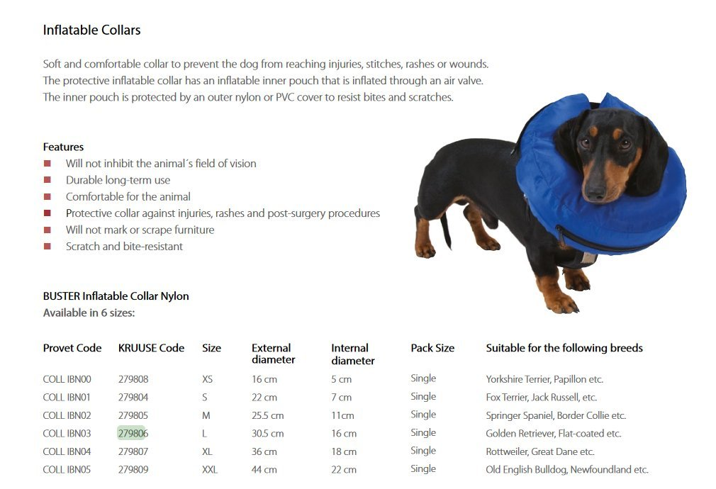 Kruuse Inflatable Collar Buster L