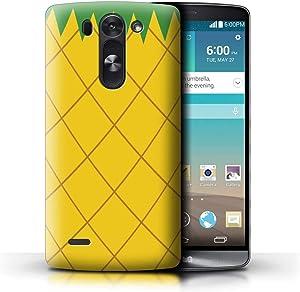 Phone Case for LG G3 Mini S/D722 Fruit Trend Summer Cartoon Cute Pineapple Design Transparent Clear Ultra Slim Thin Hard Back Cover