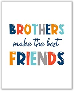 "Midoro Brothers Make The Best Friends Printable Art, Boy Nursery Prints, Brothers Wall Art, Kids Prints, Playroom Printables, Boys Room Decor (Brothers, 8"" x 10"")"