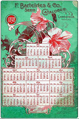 Pixy Ink F. Barteldes Vintage Seed Advertisement Poster Metal Wall Plaque Tin Sign (Vintage Seed Signs)