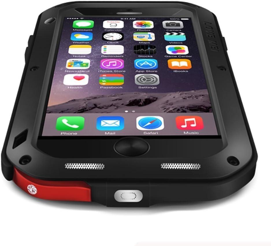 """Custodia in alluminio per iPhone 6/6S, resistente all'acqua e allo sporco, antiurto, con vetro Gorilla Glass, per Apple iPhone 6 iPhone 6s da 4,7"""""""