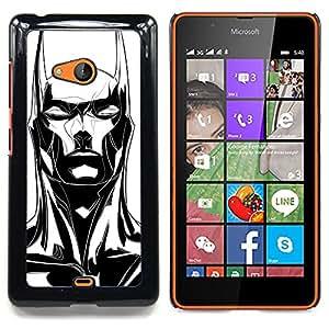 Stuss Case / Funda Carcasa protectora - Bat Long Ears Black White Art - Nokia Lumia 540