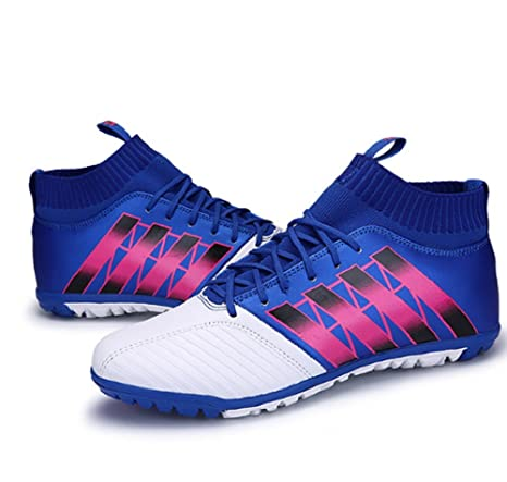 8e861dbca59fa Ankle Men Football Boots Training Soccer Shoes Hard-wearing Sneakers (blue