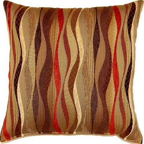 Fox Hill 613138298494-dakota New Wave Brick 17-inch Throw Pillows (Set of 2) by FoxPrint