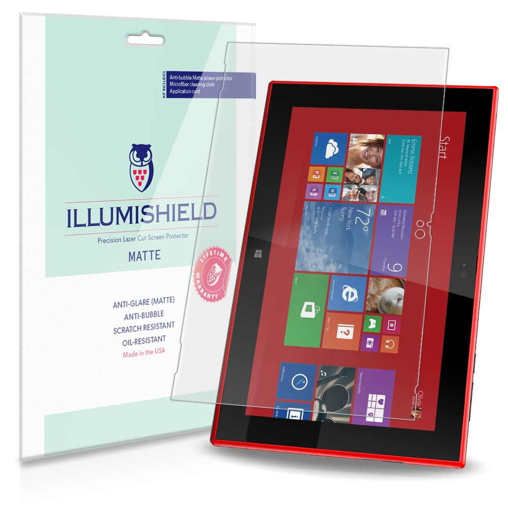 iLLumiShield – Nokia Lumia 2520 Windows RTアンチグレア(マット)スクリーンプロテクターHDクリアフィルム/気泡防止&指紋防止/プレミアムJapanese High Definition Invisibleクリスタルシールド – Free [ 2 - Pack ]ライフタイム保証 – 小売包装   B00IDCS9OG