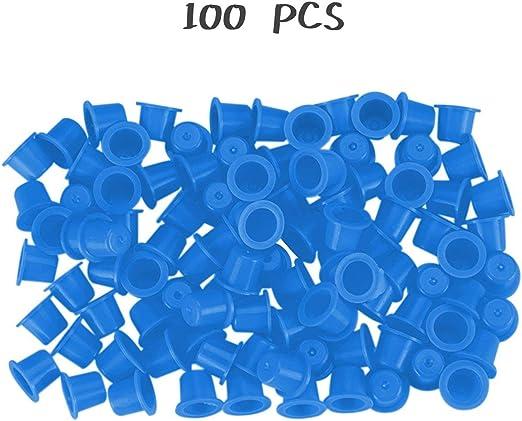 100 Piezas Amarillo/Azul pequeño número Maquillaje Permanente ...