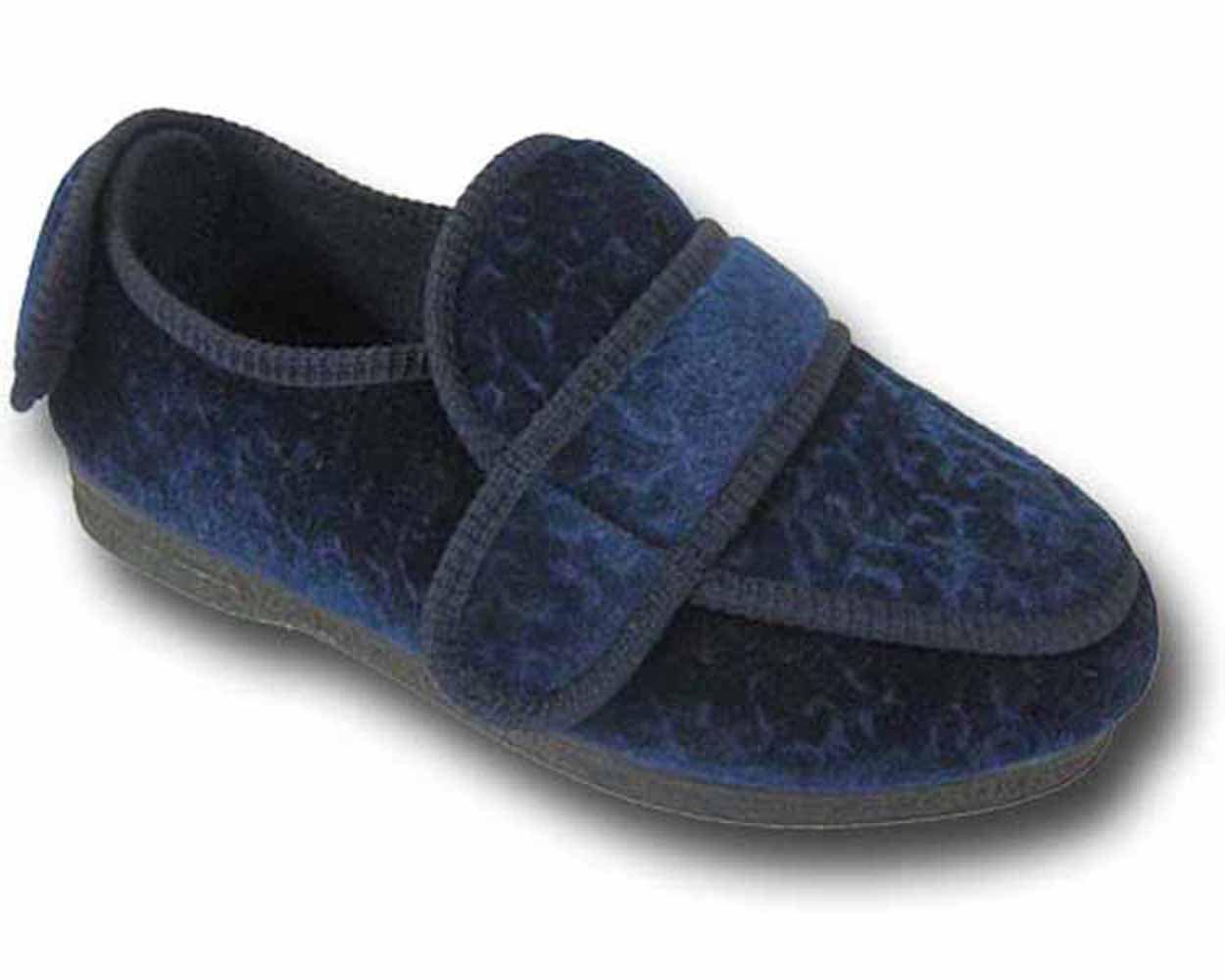 Nouveaux pantoufles dames refroidisseurs marque CosyComfort pied dames ORTHOPAEDIC 200 pied enflé pantoufles Bleu Marine 2987b8d - piero.space