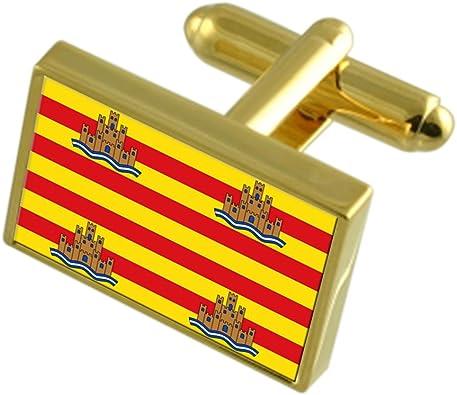 Select Gifts La Ciudad de Ibiza España Bandera de Oro Gemelos: Amazon.es: Joyería