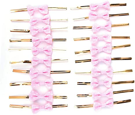 20pcs Bowknot Metallic Twist Ties for Bakery Gift Lollipop Candy Cello Bags DIY